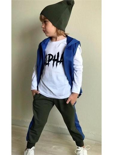 Riccotarz Erkek Çocuk Alpha Yeşil-Laci Cepkenli Eşofman Takım Renkli
